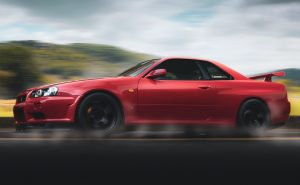 Automóvil color rojo